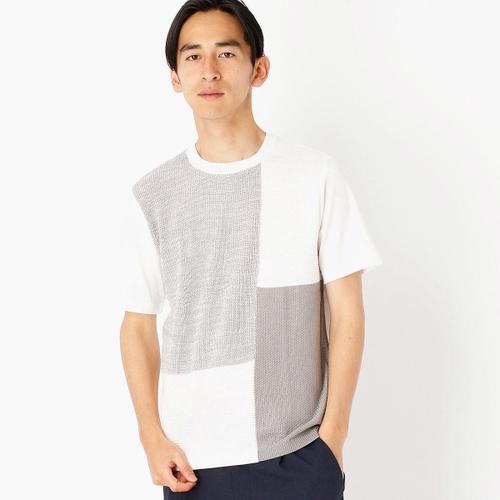 前身頃がニットになったコンビネーションTシャツ