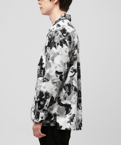 グレー VANQUISH 【ヴァンキッシュ】 [VJS1273] リヨセルコットンドレープオープンカラーシャツ